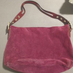 Coach Berry Suede Purse